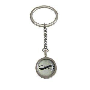 Bordered Mathematical Infinity Google Keychain